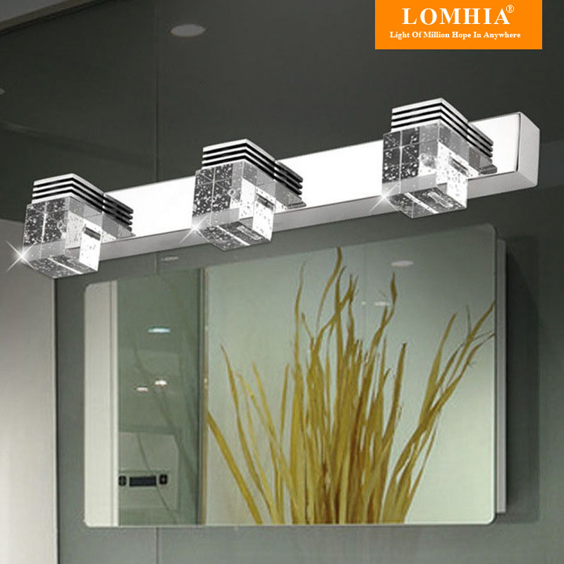 2/3 plugs modern stainless steel bathroom mirror lights/ toilet ...