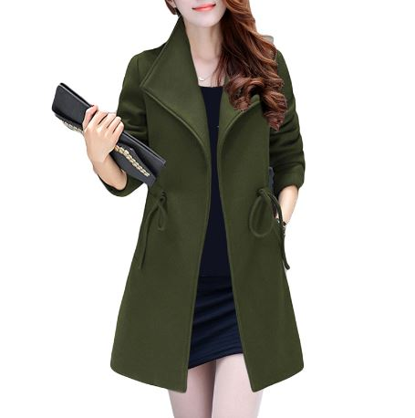 2017 plus size women's wool coat fashion large 4xl 5xl 6xl autumn and winter woolen coats warm casaco inverno feminino