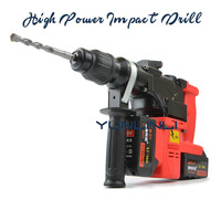 High Power Impact Drill Electric Rotary Hammer Heavy Duty Cordless Impact Drill Lithium Battery Handy Hammer 0888