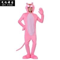 new halloween Kigurumi Pink Leopard Pajamas Women Winter Animal Panther Onesies Cartoon Adult One Piece Cosplay Costumes Hooded