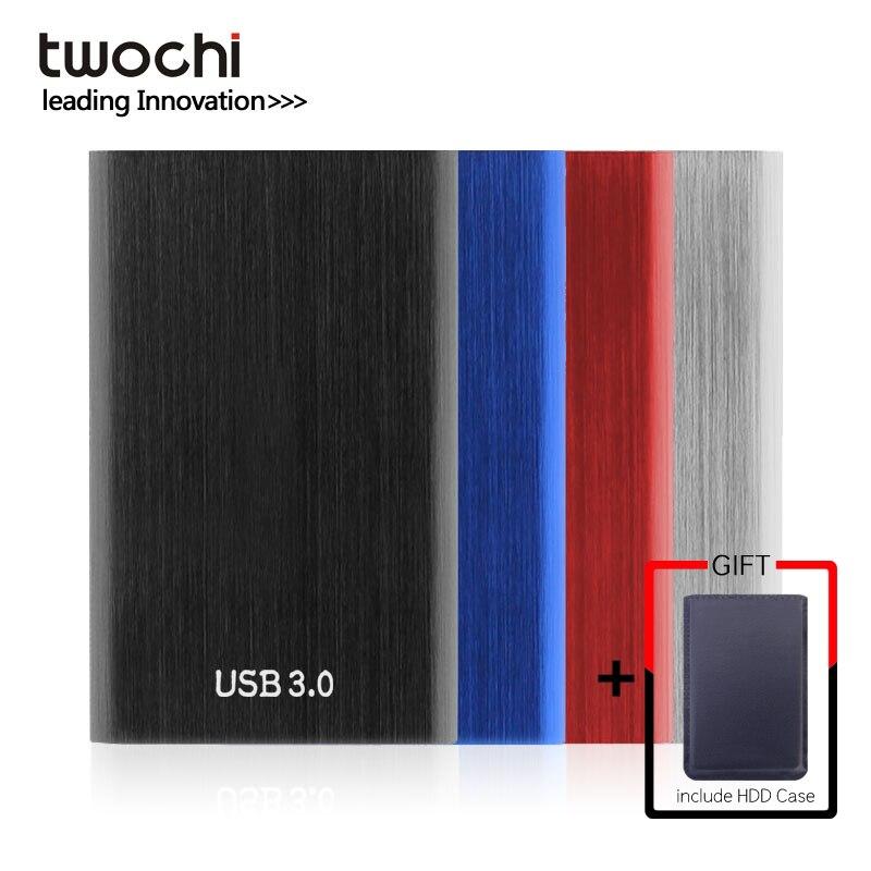 TWOCHI Metal portátil HDD 2,5