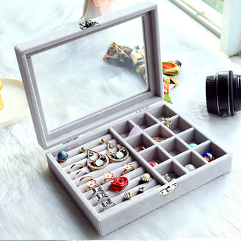 Hot Sale Multipurpose Jewellry Box Rings Earrings Necklace Makeup Holder Case Choker Organizer Women Jewellery Storage Packaging 8 grids sunglasses jewellery box rings earrings necklace makeup holder case choker organizer women jewellery storage packaging