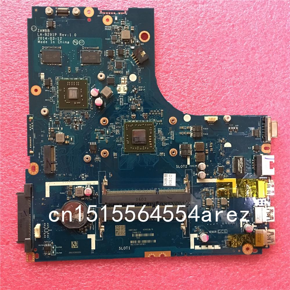 Bilgisayar ve Ofis'ten Anakartlar'de Yeni orijinal dizüstü Lenovo B50 45 anakart anakart W8P AMD A8 6410 5B20G37213 2G ZAWBB LA B291P DDR3