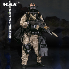 78056 1/6 Scale Collectible MARINE FORCE RECON COMBAT DIVER DESERT MARPAT Version Model for Fans Collection Gifts