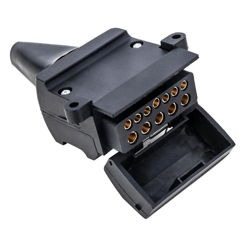 12 Pin Flat Female Socket Trailer Connector For Car Camper Caravan