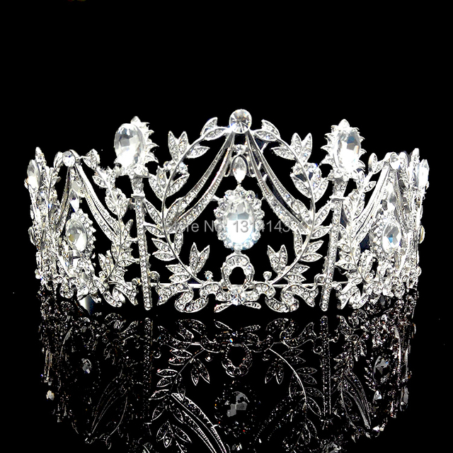 Real Limited Tiaras Noiva Hg128 Whole Princess Palace Crown Luxury Bridal Headdress Large Wedding Accessories Shiny