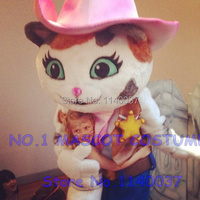 Cartoon cat Mascot Costume Adult Size Musical child West Cosply Costume Fancy Dress