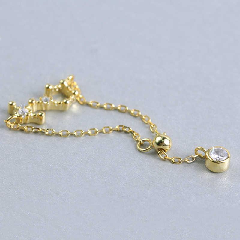 ออกแบบใหม่ 12 constellations Zodiac แหวน Rose Gold สี 925 เงินสเตอร์ลิงปรับขนาดแหวนผู้หญิง