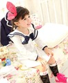 Spring autumn navy style ribbons baby dress black white 100% cotton long sleeve girls dresses kids dress baby girl clothes