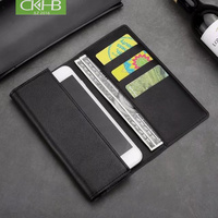CKHB Real Genuine Leather Phone Bag Case For Samsung S10 S9 S8 Plus note8 S7dege S10e Cell Phone Wallet Style Flip Cases