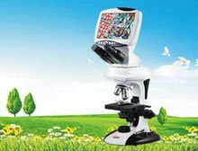 """Cheaper Best Sale ,CE ISO  9"""" Digital LCD  microscope with 5.0M Pixel 4x, 10x, 40x, 100x objective   ,Top quality  for  Education Field"""