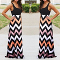 Sexy Women Summer Boho Long Maxi Party Dress Beach Dresses Lady Chiffon Sundress F0200