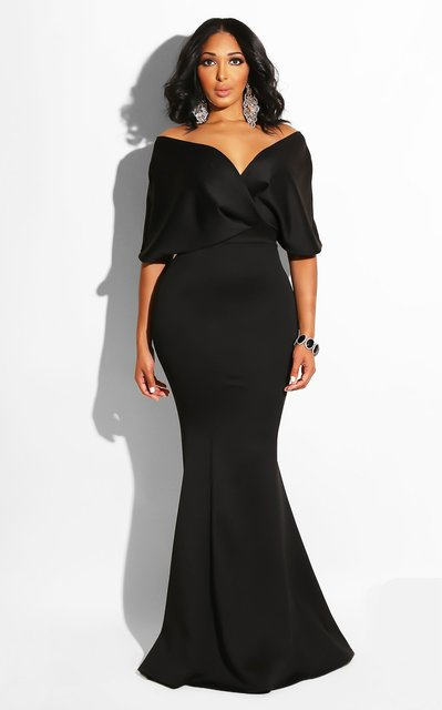 Women Maxi Dress Sexy Deep V-neck Off Shoulder Party Celebrate Sexy Evening Dating Night Out Dancing Long Package Hip Robe Tunic 4