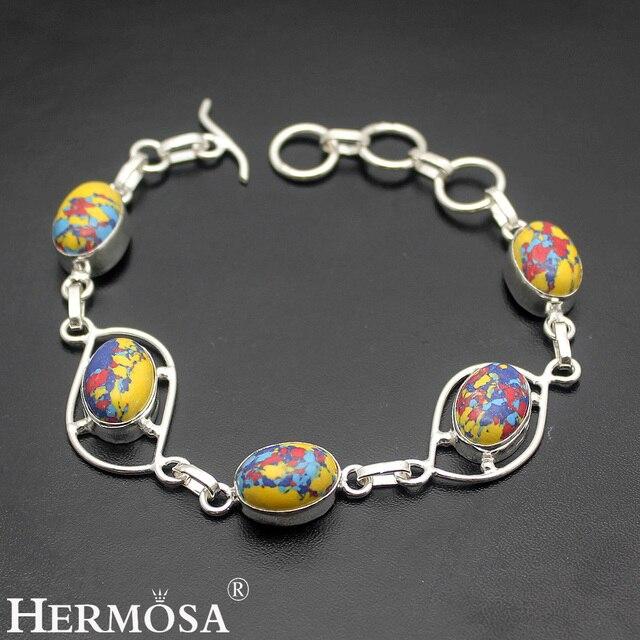 Mosaic Style Jared Jewelry Colorful Hot NaturalJasper 925 Sterling