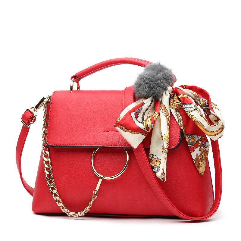 Women Bag 2017 Designer Handbags High Quality Ring Tote Bag Bolsas Feminina Scarves Clutch Women Leather Handbags Shoulder Bags