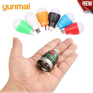 YUNMAI NEW Mini Usb LED Flashlight 6 Colours  Q5 Aluminum Work Light 800LM Waterproof Lanterna 3 Modes Portable LED Torch Lamp
