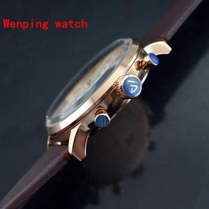 Image 4 - トップファッションデザインパガーニ 43 ミリメートルホワイトローズゴールドケースクロノグラフ日本クォーツ男性の古典的なシンプルさ腕時計ギフト