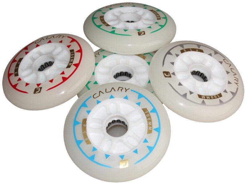 1 Piece Flash Roller Wheels 4 LED Light Sliding Skate Wheels 85A 100mm PU Wheels For Speed Racing Skating
