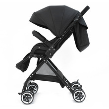 HUA YING New High Landscape  Baby Stroller Children Lightweight Folding Can Sit Reclining Stroller Maternal And Child 3 in1 baby stroller can sit reclining folding shock absorber stroller high landscape lightweight children stroller baby basket