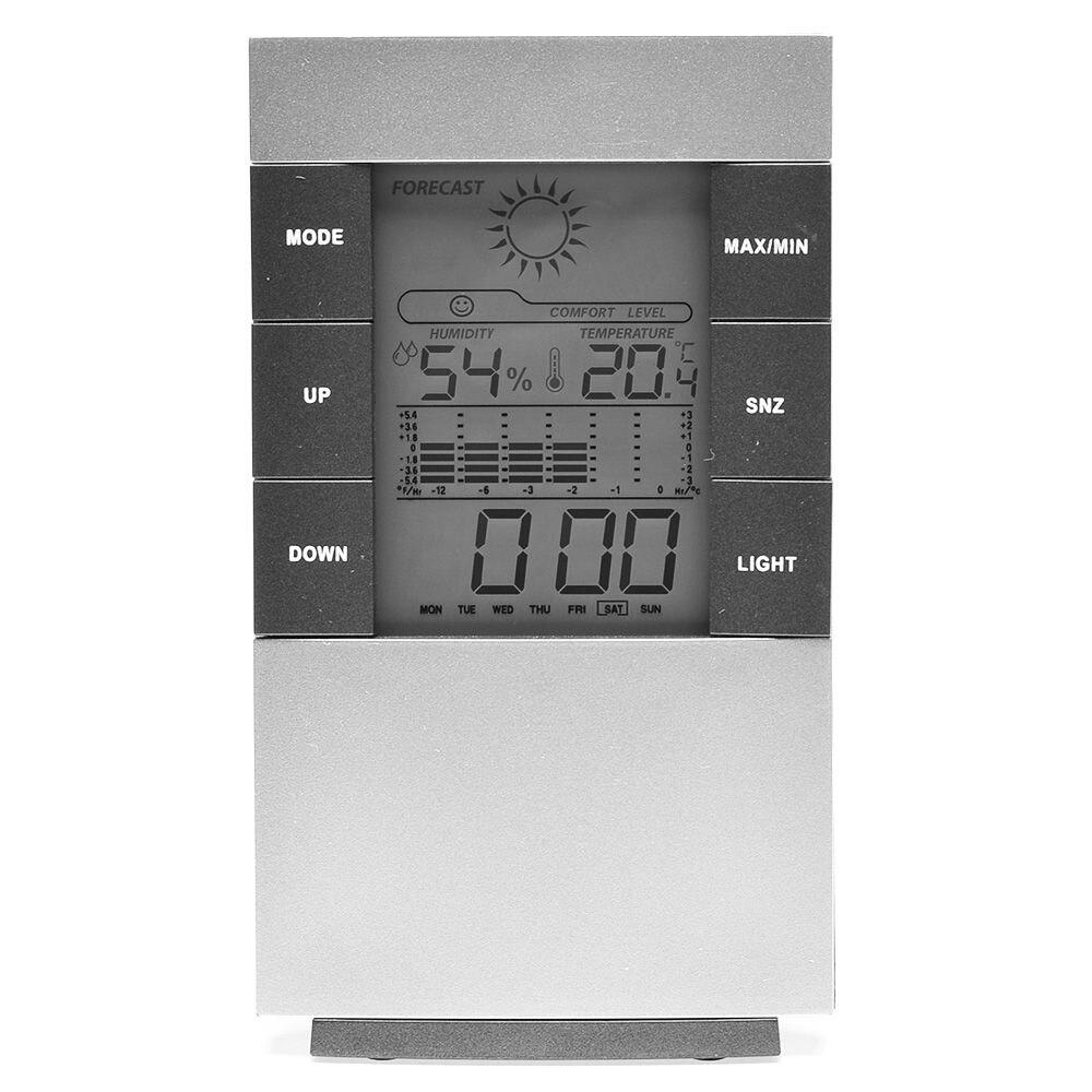 Numérique Hygromètre Horloge Alarme Thermomètre Température Hygromètre Calendrier