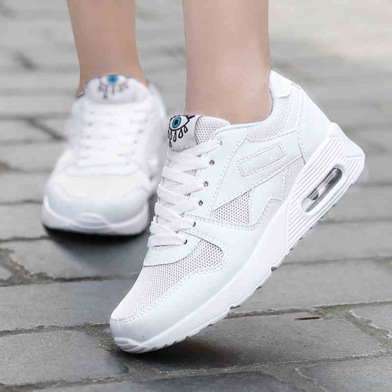 top 2017 fall new women basketball shoes air cushion students female sports shoes running shoes breathable mesh sneakers