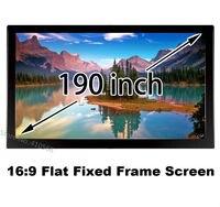Черный бархат, покрытый Рамки проецирования Экран 190 дюймов 16:9 Лучшая цена для 3D фильм Театр