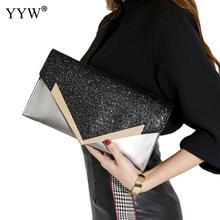 Black Envelope Clutch Bag Women Leather Birthday Party Evening Clutch Bags For Women Ladies Shoulder Clutch Bag Purse Female цена в Москве и Питере