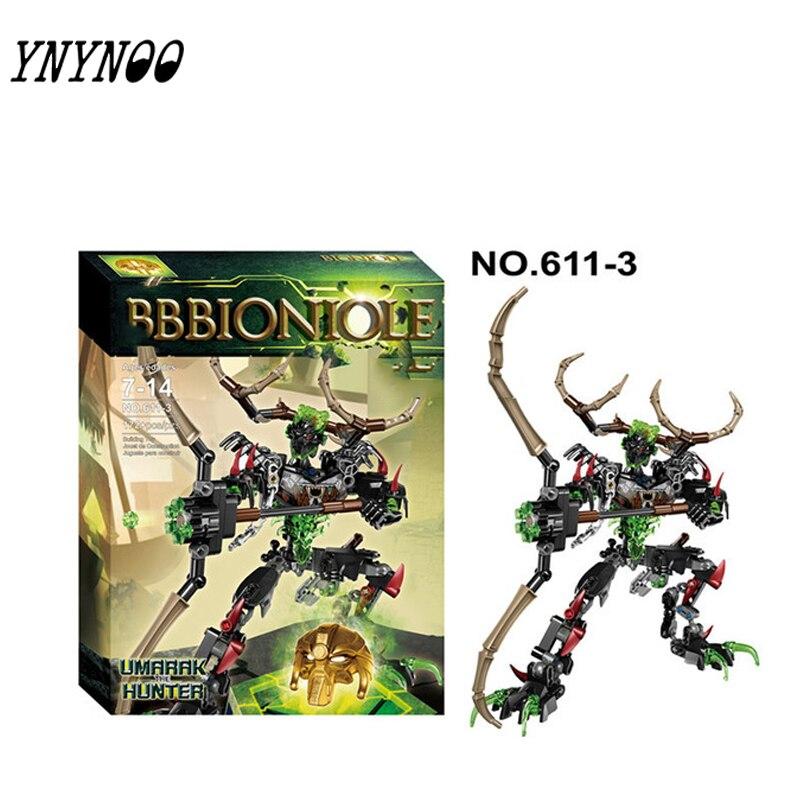 (YNYNOO) XSZ 611-3 Biochemischen Krieger BionicleMask von Licht Bionicle Umarak Hunter Ziegel Baustein Beste Spielzeug