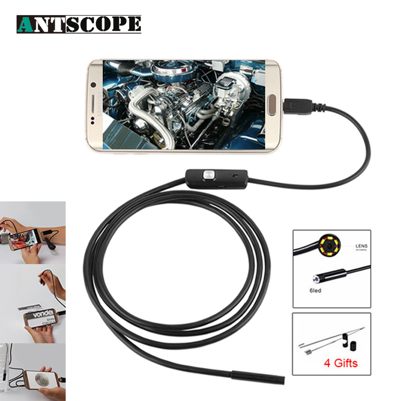 Antscope 7mm/5.5mm USB Android Endoscope Camera 6 LED Lights Waterproof Snake Cable Inspection Borescope for Auto Camera 5Antscope 7mm/5.5mm USB Android Endoscope Camera 6 LED Lights Waterproof Snake Cable Inspection Borescope for Auto Camera 5