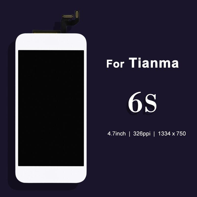 imágenes para Para Tianma 10 unids LCD de Repuesto Para el iphone 6 s LCD con Pantalla Táctil Digitalizador Asamblea con 3D + Cámara titular