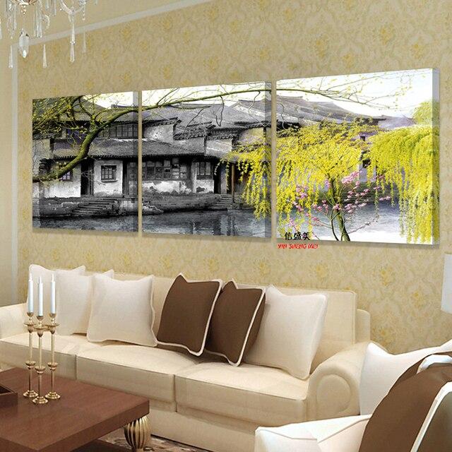 slaapkamer bloem canvas muur foto kunst mooie schilderijen moderne 3 stuk modulaire orchidee schilderij cuadros foto
