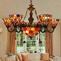 Tiffany Böhmen Barock Glasmalerei Ausgesetzt Leuchte E27 110-240 v Kette Anhänger lichter für Home Parlor Esszimmer