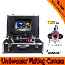 Free shipping Fish Shape Underwater Fishing Camera Kit with 30Meters Depth Cable & 7Inch TFT LCD Monitor & Hard Plastics Case