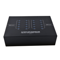 Sipolar NEW 20 port usb 3.0 hub support phone quick charge