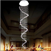 New Modern Crystal Chandelier Spiral K9 Lustre Crystal Ceiling Flush Mount Pendant Lamp Lighting Fixture Free