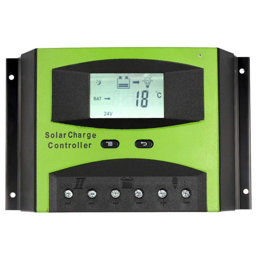 12V/ 24V PWM Solar Charge Controller, Temperature Compensation PWM charging Overload Protection LCD Screen Off-grid Solar System12V/ 24V PWM Solar Charge Controller, Temperature Compensation PWM charging Overload Protection LCD Screen Off-grid Solar System
