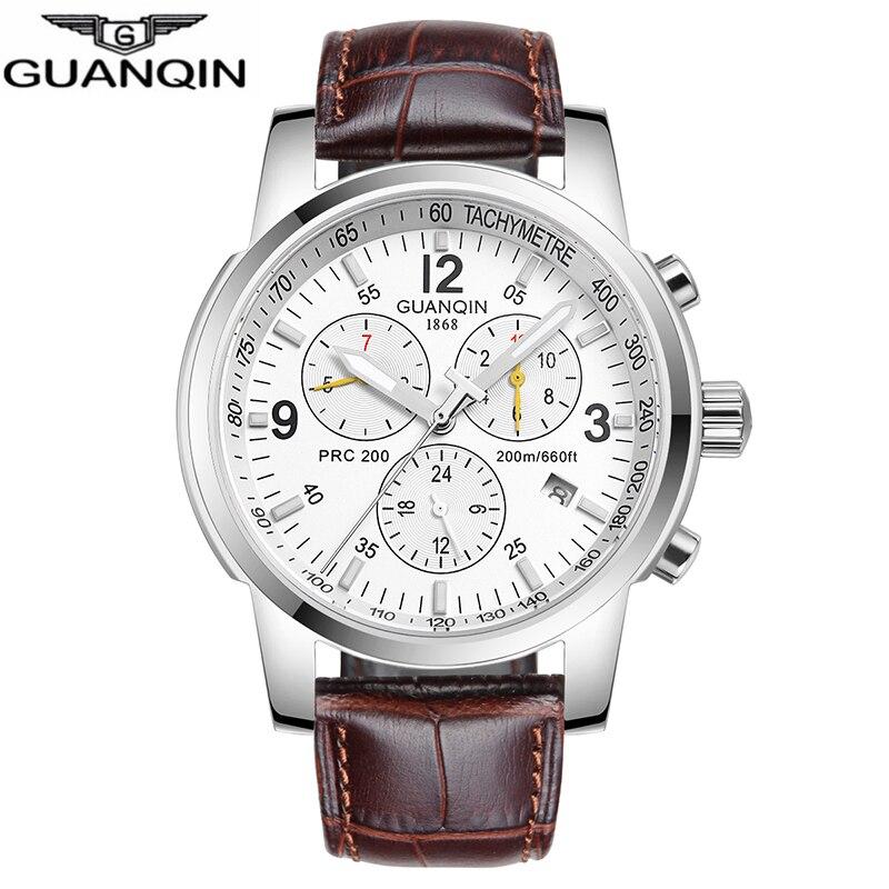2018 Original GUANQIN Men Mechanical Watches Men Luxury Brand Full Steel Waterproof 100m Business Automatic Wristwatches For Men