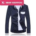 2 Colors Men's Fashion Navy Style Anchor Printing Long Sleeve Shirts .men's Slim Fit Casual Shirt, Size 2xl=us L , G1914
