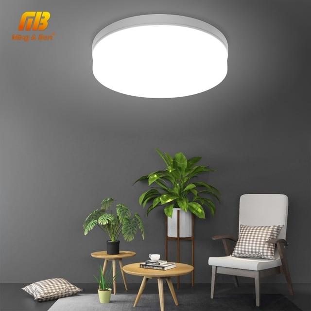LED לוח מנורת LED תקרת אור 48 W 36 W 24 W 18 W 13 W 9 W 6 W למטה אור צמודי AC 85-265 V מודרני מנורת לבית תאורה