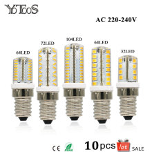 10pcs Lot E14 LEDs Lamp Light AC 220V 230V 240V Corn Led Bulbs Warm Withe For Halogen Chandelier Candle Lights Home Lighting