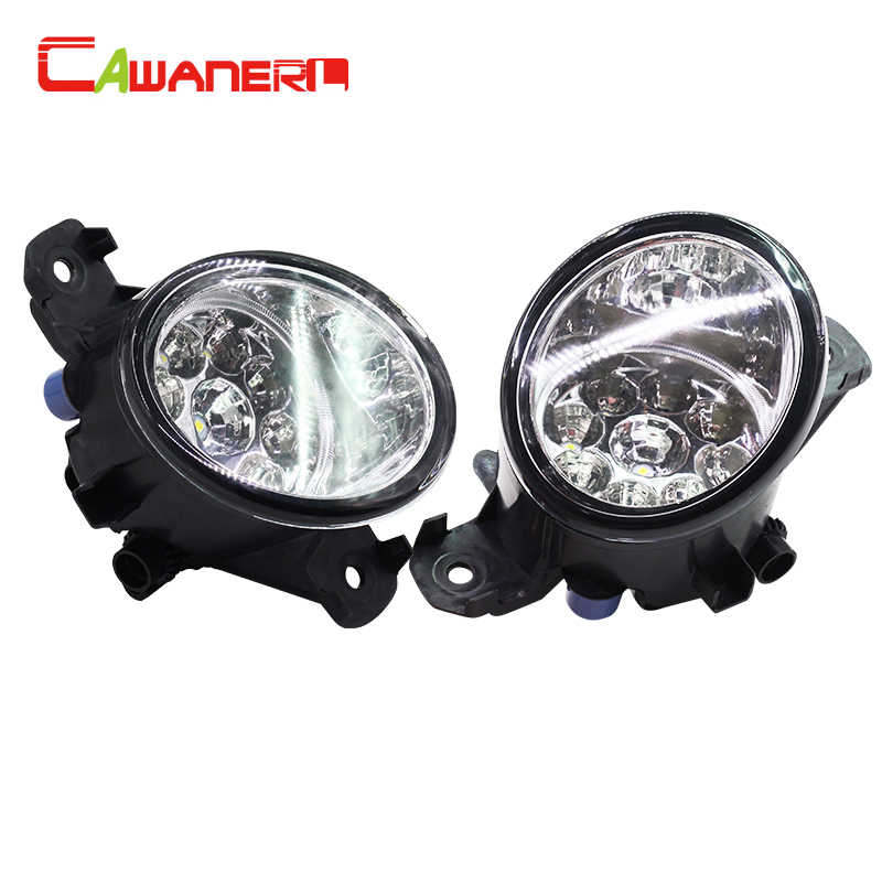 Cawanerl 2 Pieces H8 H11 Car Styling Right + Left Fog Light LED Light DRL Daytime Running Light For Opel Movano B Box 2010-2015