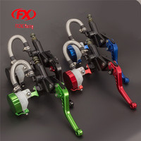FX 7 8 125 300CC Motorcycle Master Cylinder Reservoir Brake Clutch Lever Hydraulic Set For Honda