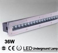 2 pçs/lote 24w branco quente/rgb/led piso lâmpada lâmpadas led iluminação chão ce ip68 à prova dip68 água AC85-265V/12 v