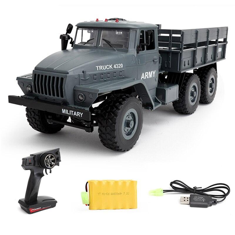 WPL الأورال راديو التحكم سيارات 1:16 6WD محاكاة RC الزاحف العسكرية شاحنة الجسم تجميع لعب الاطفال-في سيارات تعمل بالتحكم عن بعد من الألعاب والهوايات على  مجموعة 1