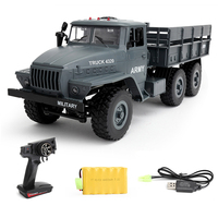 WPL Ural Radio Controlled Cars 1:16 6WD simulation RC Crawler Military Truck Body Assemble kids toys