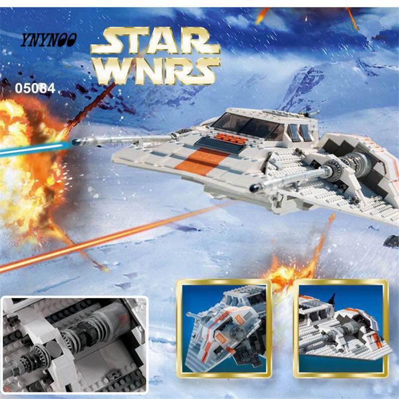 YNYNOO Lepin 05084 1457Pcs Star War Series The Rebel Snowspeeder Set Educational Building Blocks Bricks Boy Toys Model Gifts star space war series the rebel snowspeeder set educational building blocks bricks boy toys model gifts compatible lepins 10129