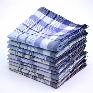 Scarves Handkerchiefs Hanky Chest-Towel Pocket 100%Cotton 5pcs Plaid Stripe Squares Business