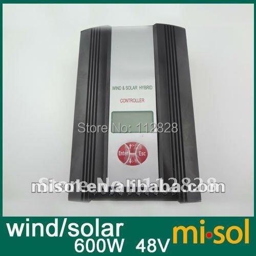 Hybrid Wind Solar Charge Controller 600W Regulator, 48VAC input, wind charge controller