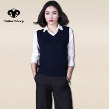spring autumn new style women vest pullover wool material female jacket short vest twist pattern vest basic shirt(China)