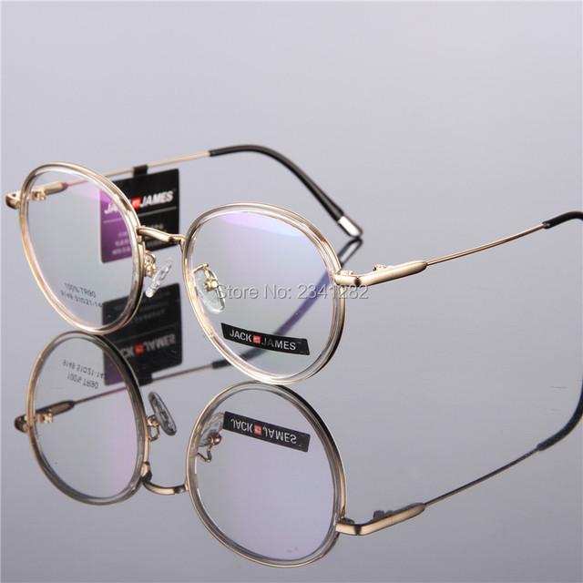 Round-framed óculos coreano quadros TR90 upscale limpar vidros ópticos homens óculos óculos de armações de óculos de olho para as mulheres 9149